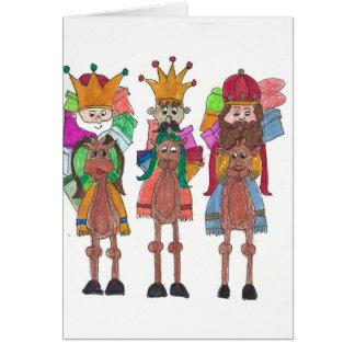 Carte Trois rois heureux