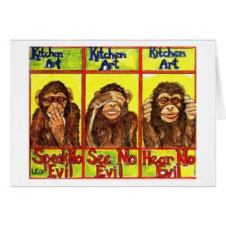 Carte Trois singes sages