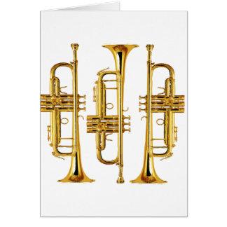 Carte Trois trompettes