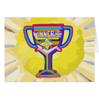 Carte Trophée de gagnant :  Art acrylique