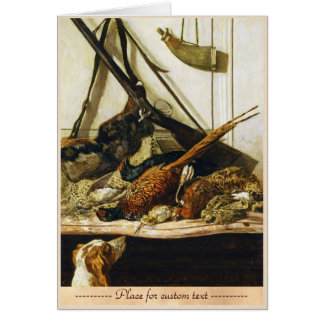 Carte Trophées de la chasse, Claude Monet 1862