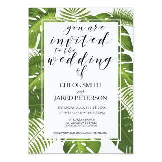 Carte tropicale de faire-part de mariage