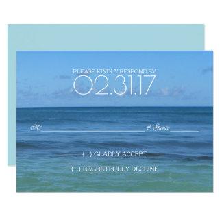 CARTE tropicale du mariage de plage RSVP Carton D'invitation 8,89 Cm X 12,70 Cm