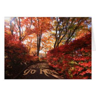 Carte Trouvez-vous pour aller des coureurs d'automne de