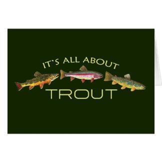 Carte Truite avide Fishermans
