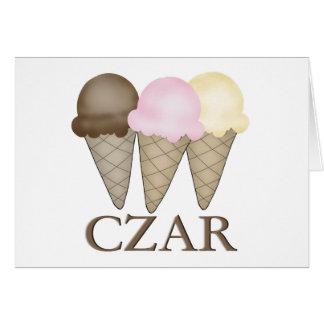 Carte Tsar de crème glacée