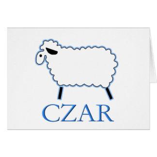 Carte Tsar de moutons blancs