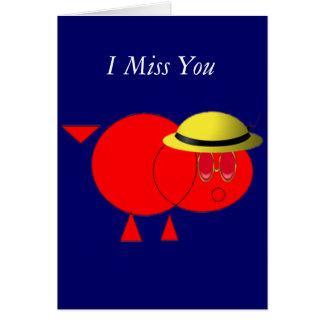 Carte Tu me manque