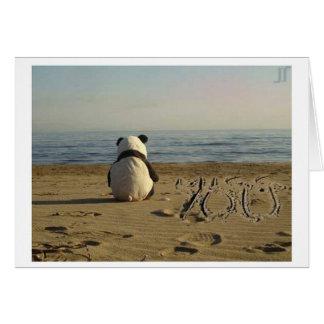 """Carte """"Tu me manque"""" panda"""