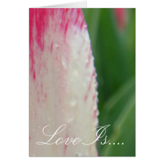 Carte Tulipe peinte