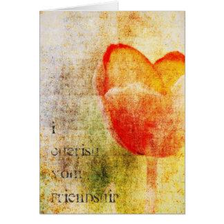 Carte Tulipe rouge inspirée