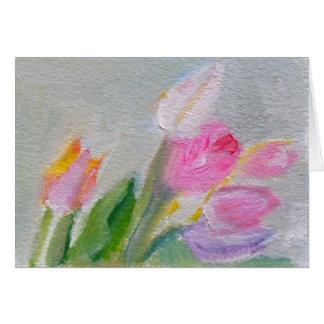 Carte Tulipes roses