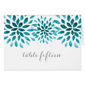 Carte turquoise de Tableau de chrysanthème