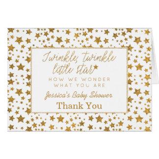 Carte Twink, scintillement peu de Merci de baby shower