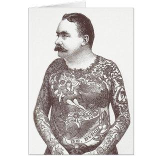 Carte Type victorien tatoué avec la moustache
