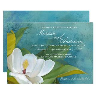 Carte Typographie florale élégante moderne de magnolia