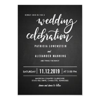 Carte Typographie rustique de célébration de mariage de