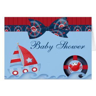 Carte Un baby shower de vie marine de garçons