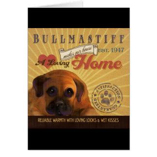 Carte Un Bullmastiff affectueux fait notre maison de