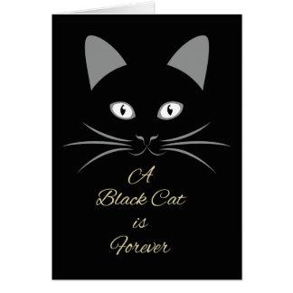 Carte Un chat noir est antérieur