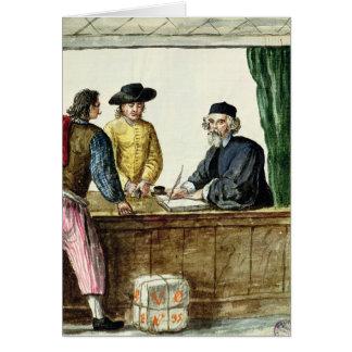 Carte Un commerçant juif avec deux clients
