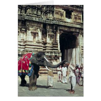 Carte Un homme béni par un éléphant