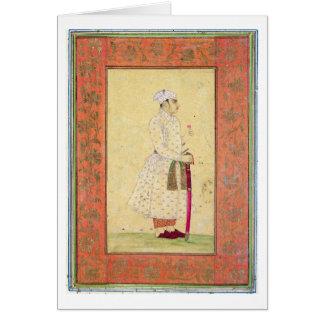 Carte Un jeune noble de la cour de Mughal, du Lar