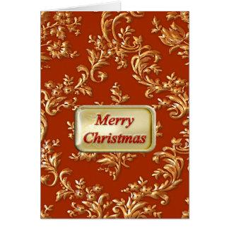 Carte Un Joyeux Noël d'or