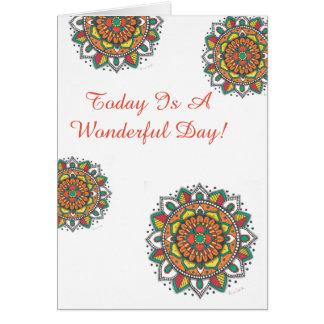 Carte Un mandala merveilleux de joyeux anniversaire de