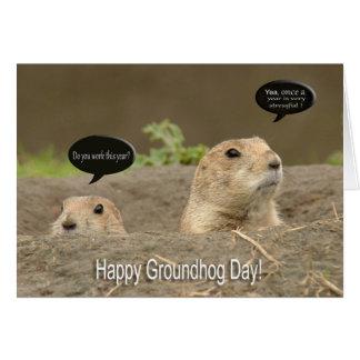 Carte Un par année, jour de Groundhog