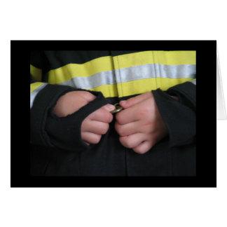 Carte Un sapeur-pompier du papa