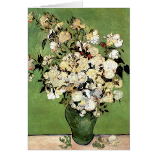 Carte Un vase de roses par Vincent van Gogh