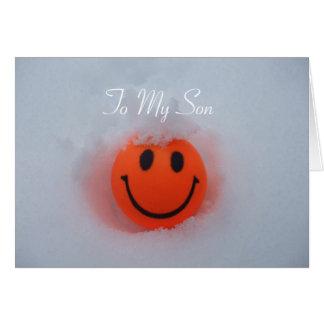 Carte Un visage souriant - la Saint-Valentin du fils