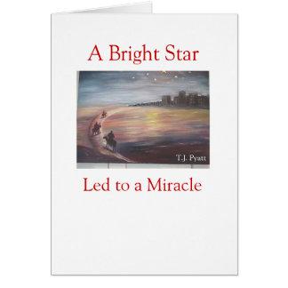 Carte Une étoile lumineuse menée à un miracle