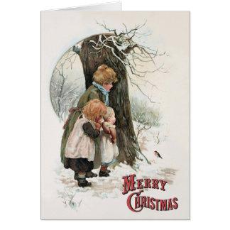 Carte Une exploitation groupe de travail - Noël vintage