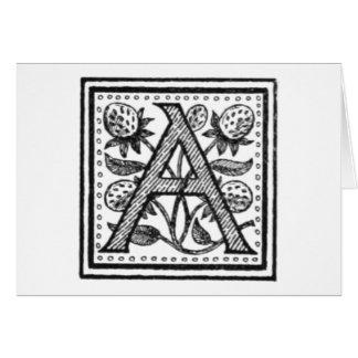 Carte Une initiale d'un moine de fifre
