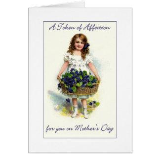 Carte Une marque du jour de mère d'affection