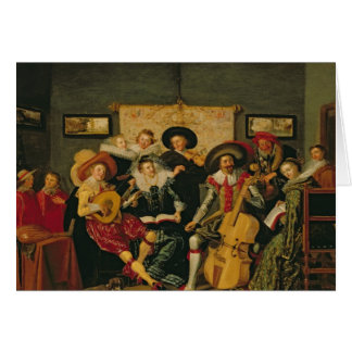 Carte Une partie musicale, c.1625