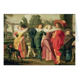 Carte Une promenade dans le jardin, c.1623