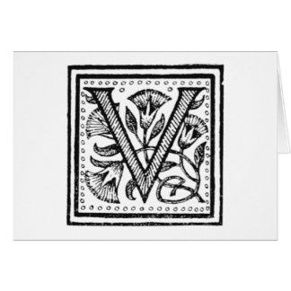 Carte V initiale d'un moine de fifre