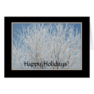Carte - vacances : Belle photo d'arbre givré