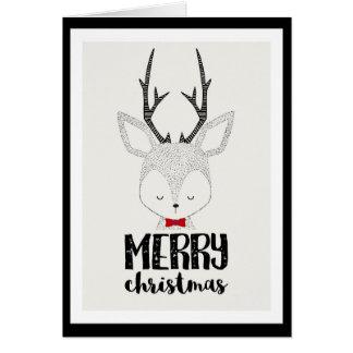 Carte Vacances de Noël - renne mignon