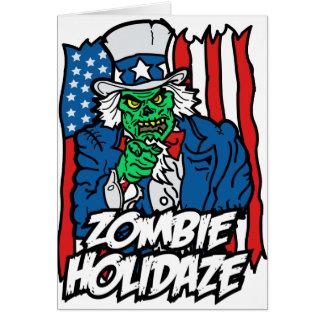 Carte Vacances de zombi