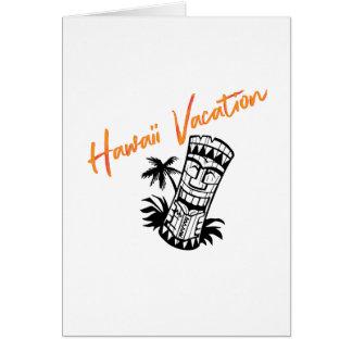 Carte Vacances d'Hawaï