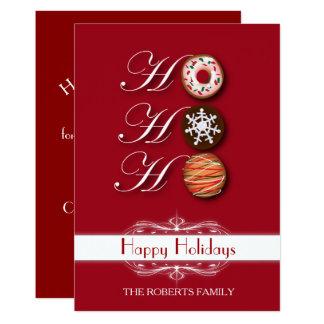 Carte Vacances heureuses de biscuits de Noël de HoHoHo