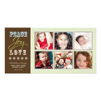 Carte Vacances Photocard (sauge) de famille de
