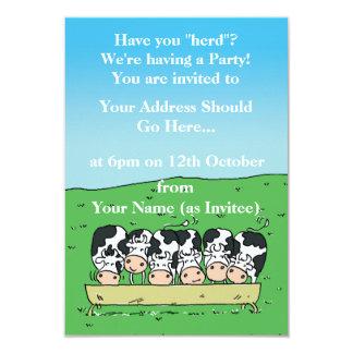 Carte Vaches dans une conception de champ