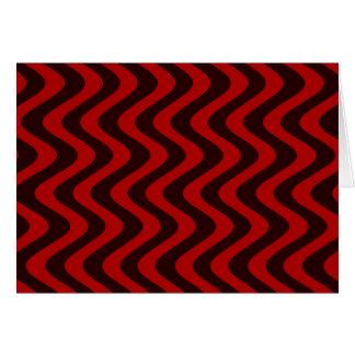 Carte Vagues bancales (noir/rouge)