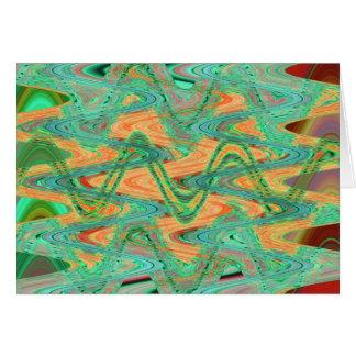 Carte vagues vertes d'orange