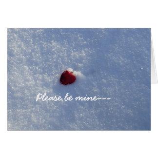 Carte Valentine-Amie rouge de coeur
